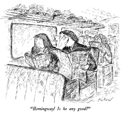 The Importance of Reading Ernest, New Yorker Cartoon by Edward Koren |  Silver Birch Press