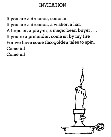 Invitation To Poetry Poem By Shel Silverstein Silver