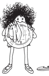 How Not to Have to Dry the Dishes, poem and drawing by Shel Silverstein