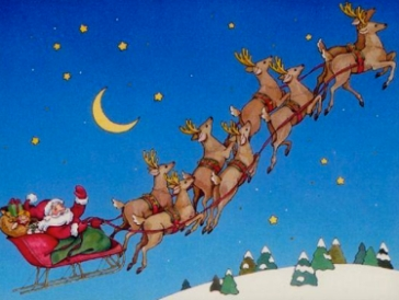 Santa and the Reindeer, poem by Shel Silverstein