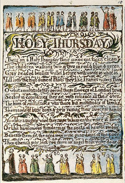 Holy Thursday, Poem by William Blake   Silver Birch Press
