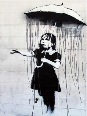 Banksy-Umbrella-Girl