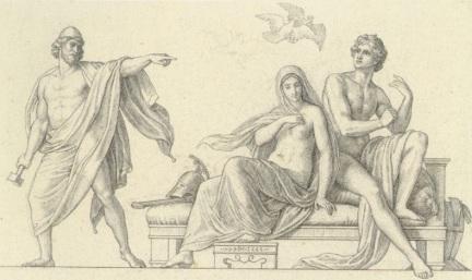800px-Schnorr_von_Carolsfeld_-_Hephaistos_überrascht_Aphrodite_und_Ares