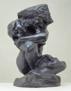 The Fallen Caryatid Carrying her Stone circa 1880-1, cast 1950 by Auguste Rodin 1840-1917