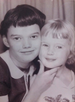 Merna Dyer Skinner1 (on right at 6 years of age)  With sister, Gloria