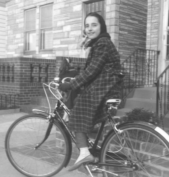 Cathy on bike