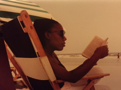 Glenis Reading on Beach, 1990