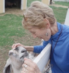 Barbara Bald and goat