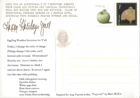 Shapiro,1 Paula Deen postcard back and front