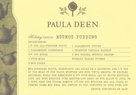 Shapiro2, Paula Deen postcard back and front