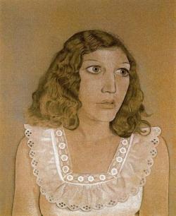 girl-in-a-white-dress- Lucian Freud1947