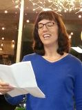At the Cadence Collective Reading at Gatsby Books, Long Beach, CA  05-11-15