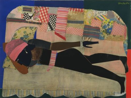 Romare_Bearden_-_Patchwork_Quilt._1970._Cut-and-pasted_cloth_and_paper_with_synthetic_polymer_paint_on_composition_board,_Museum_of_Modern_Art