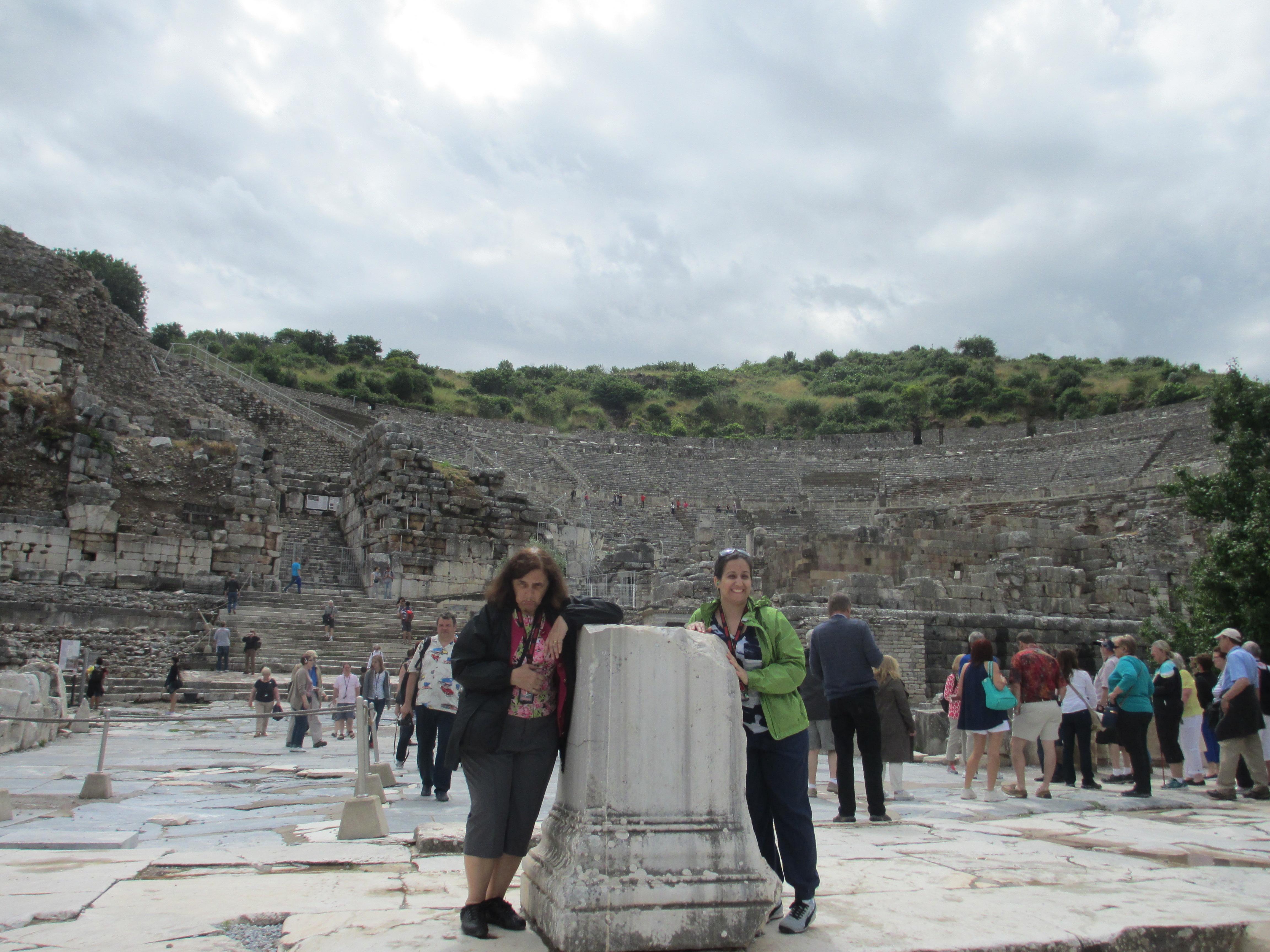 Jennie and Joan Leotta in Ephesus, Turkey, 2015