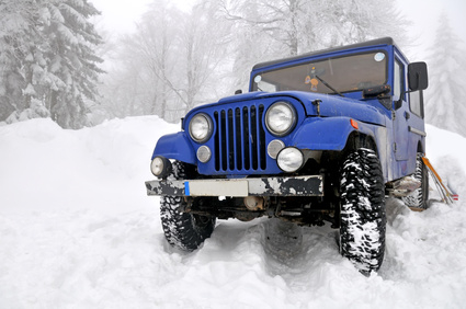 Offroad 4x4 in the snow