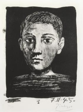 Head of a Young Boy 1945 by Pablo Picasso 1881-1973