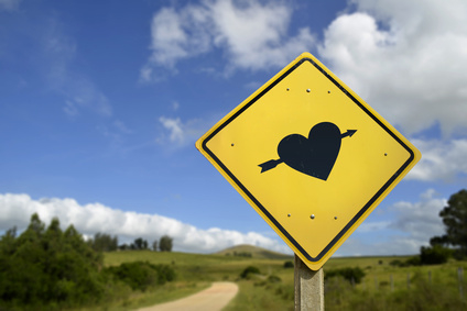 Find your soulmate love concept icon road sign