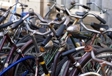 Adam parked bikes