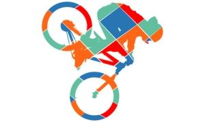Bike silhouette pop art style