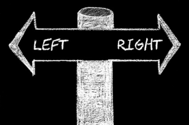 Opposite arrows with Left versus Right
