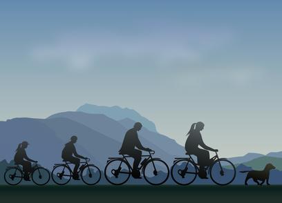Bisikletlerle gezinti