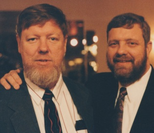 Patrick T. Reardon (left) and his brother David in 2002