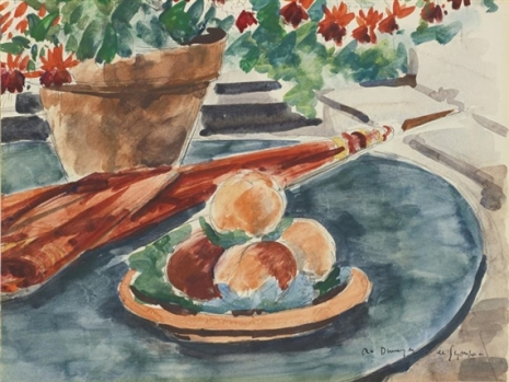 still-life-with-peaches-and-umbrella
