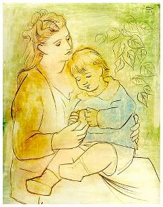 picasso-mother_child-1922