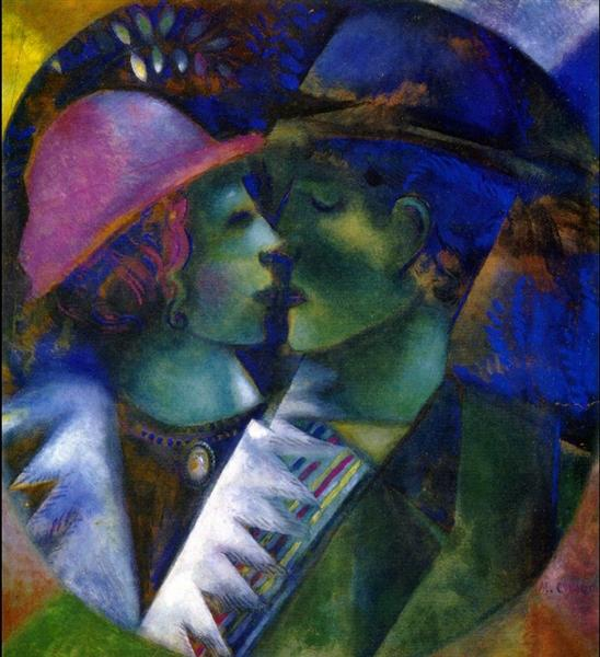 green-lovers-1915 marc chagall