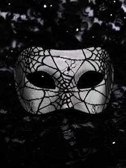 Mens-Black-White-Spider-Web-Venetian-Mask