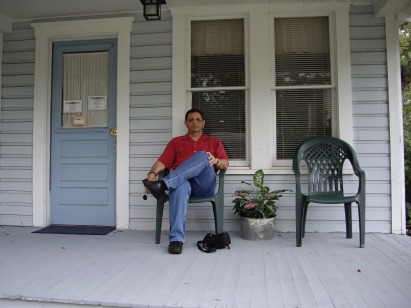 me on porch