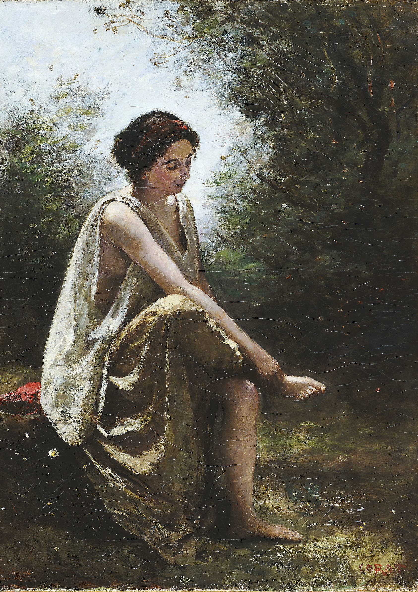 corot wounded eurydice