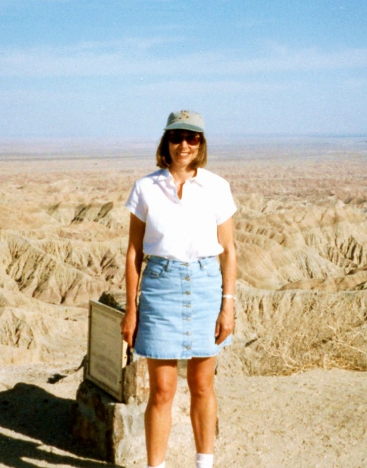 Cynthia Anderson in 2000 at font's point