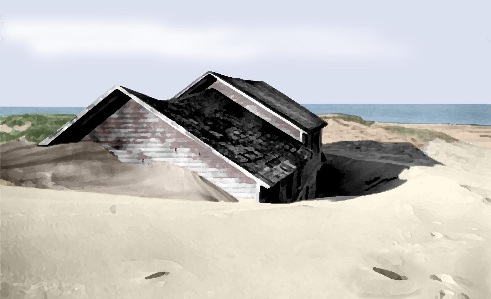 Jack Sheridan cottage_sand_bury_painting
