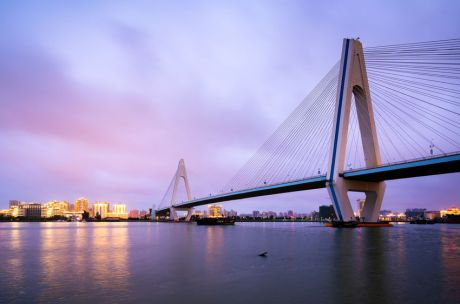 China Haikou Century Bridge Night