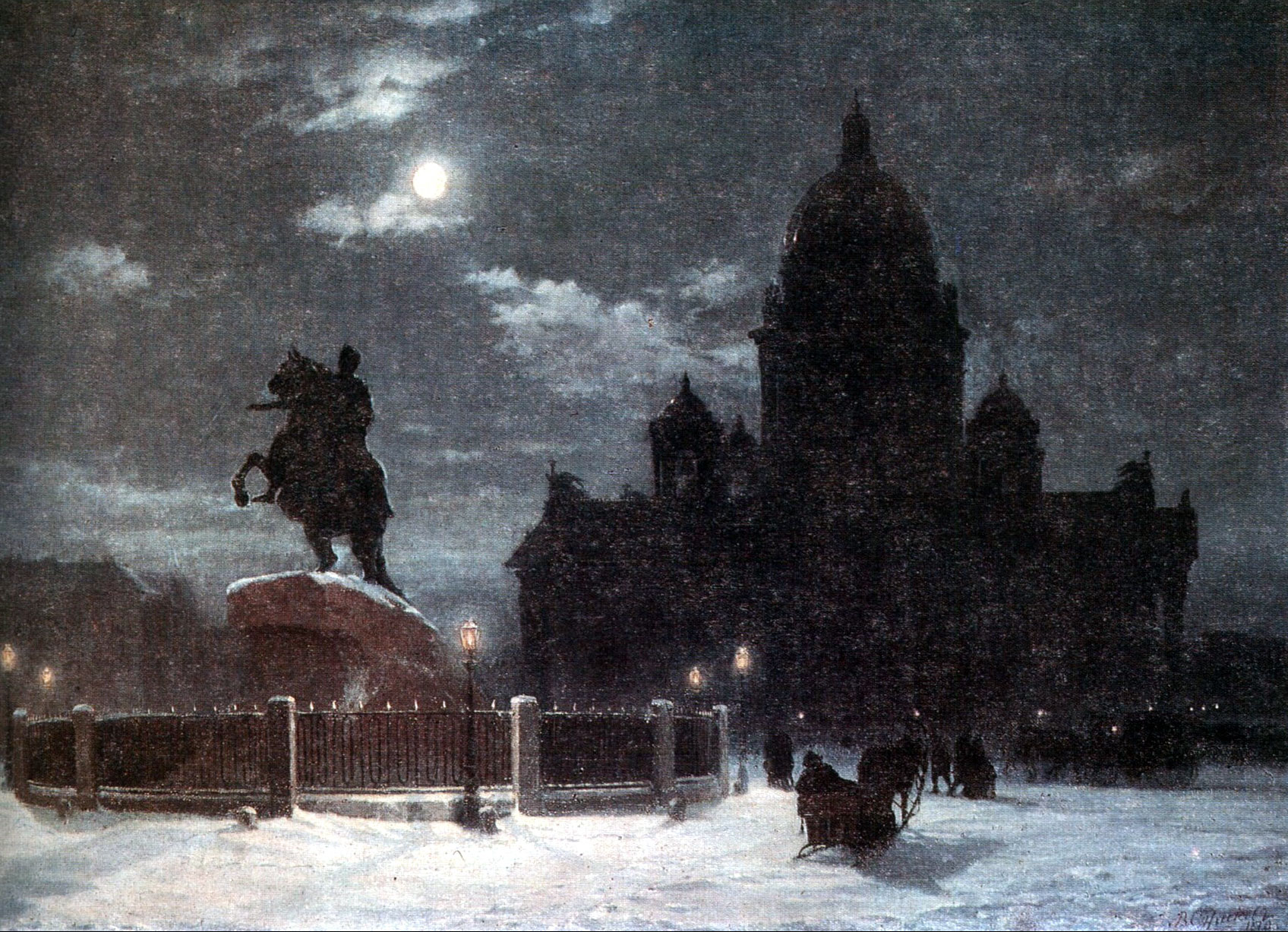view-of-monument-to-peter-i-on-the-senate-square-in-st-petersburg-1870