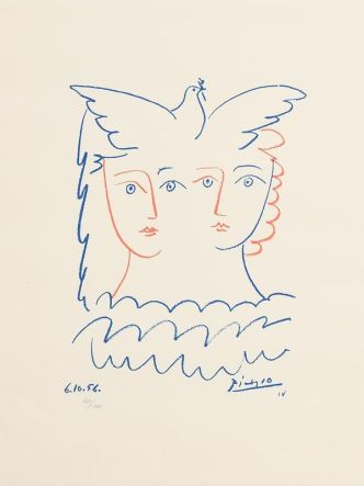two women and dove 1956